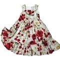 Chaleco de la muchacha Vestidos de Princesa de Algodón 100% Traje de Marca de Fábrica Embroma Vestido de La Venda de Las Muchachas Ropa Estampado floral Niños Del Vestido Del Verano 9009