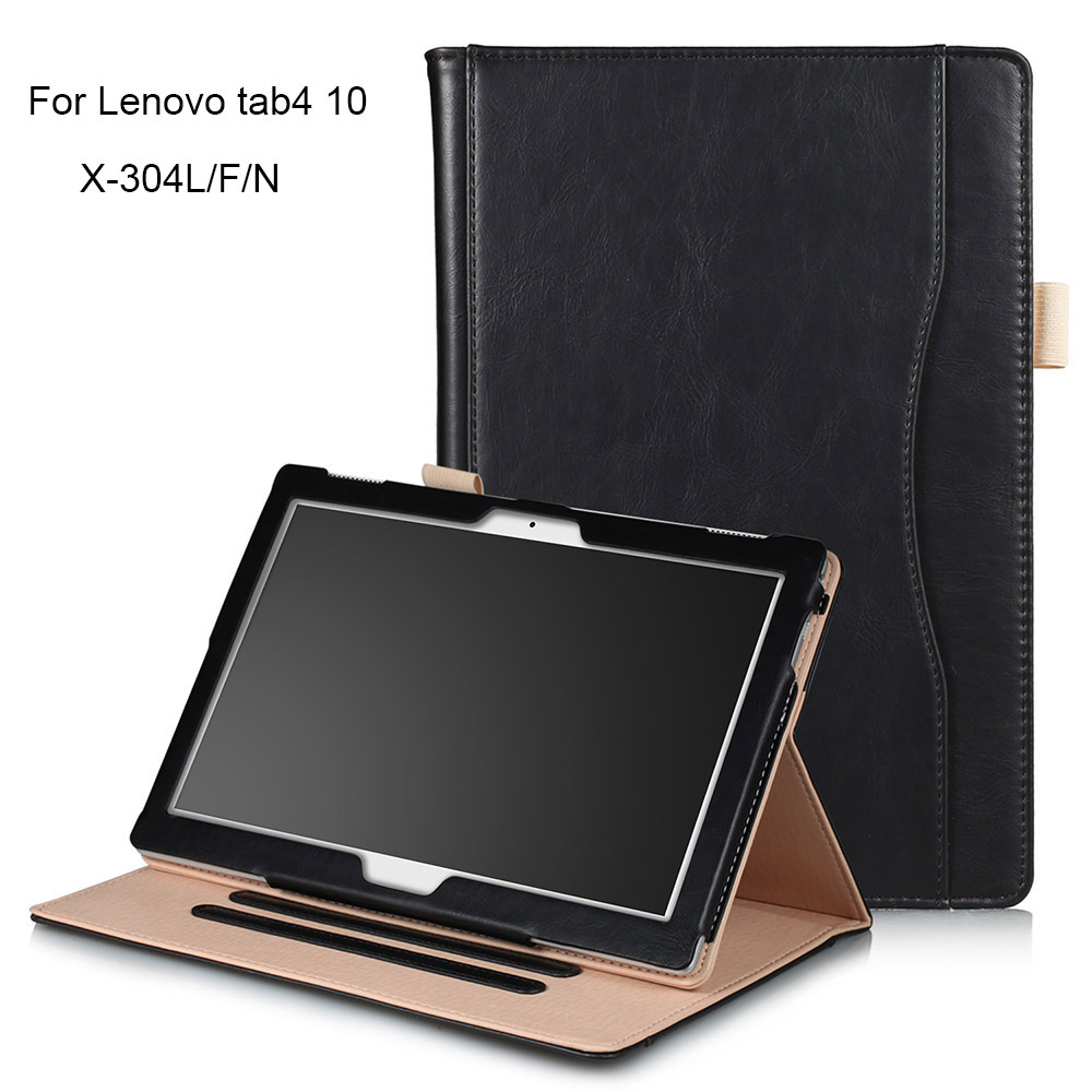 Tablet Case for Lenovo Tab4 10 Luxury PU Leather Smart Case for Lenovo Tab 4 10 TB-X304N TB-X304F TB-X304L and Touch Pen ножницы для живой изгороди 10 truper tb 17 31476