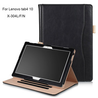 Tablet Case For Lenovo Tab4 10 Luxury PU Leather Smart Case For Lenovo Tab 4 10