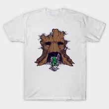 2017 Summer Newest Brand Clothing Link The legend of Zelda Print T-Shirt Hipster The Groot Deku Tree Design T Shirt Men Tee Tops