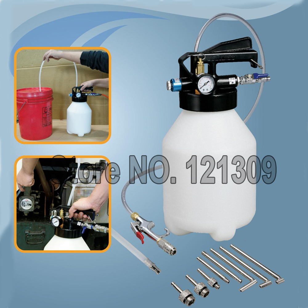 Two Way 6L Pneumatic Air Engine Gear ATF Oil Fluid Extractor Dispenser
