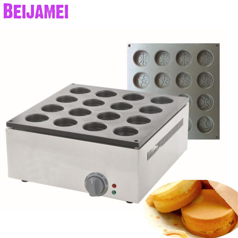 BEIJAMEI 2233B Electric Heating Red Bean Cake Machine Commercial Electric Red Bean Cake Obanyaki Waffle Maker Grill