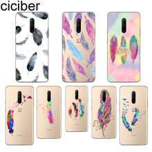 ciciber Colored Feather Phone Case For Oneplus 7 Pro 1+7 Pro Soft TPU Cover for Xiaomi 9 Coque For Redmi Note 7 6 Pro Funda Capa