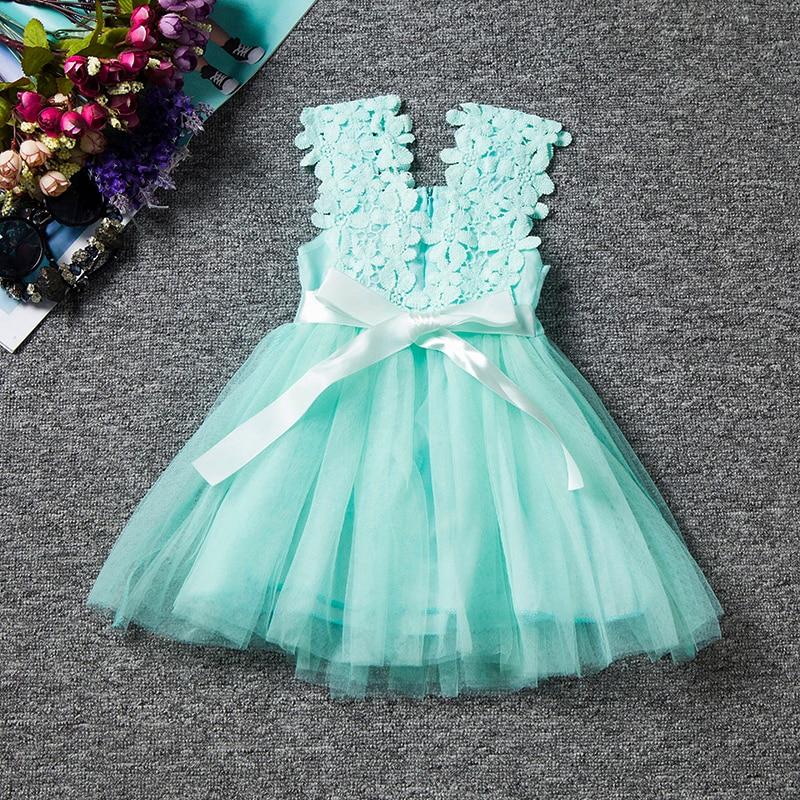 b1a202c0c23e Girls Dress 2018 Summer New Party Dress Infant Birthday Party Dress ...