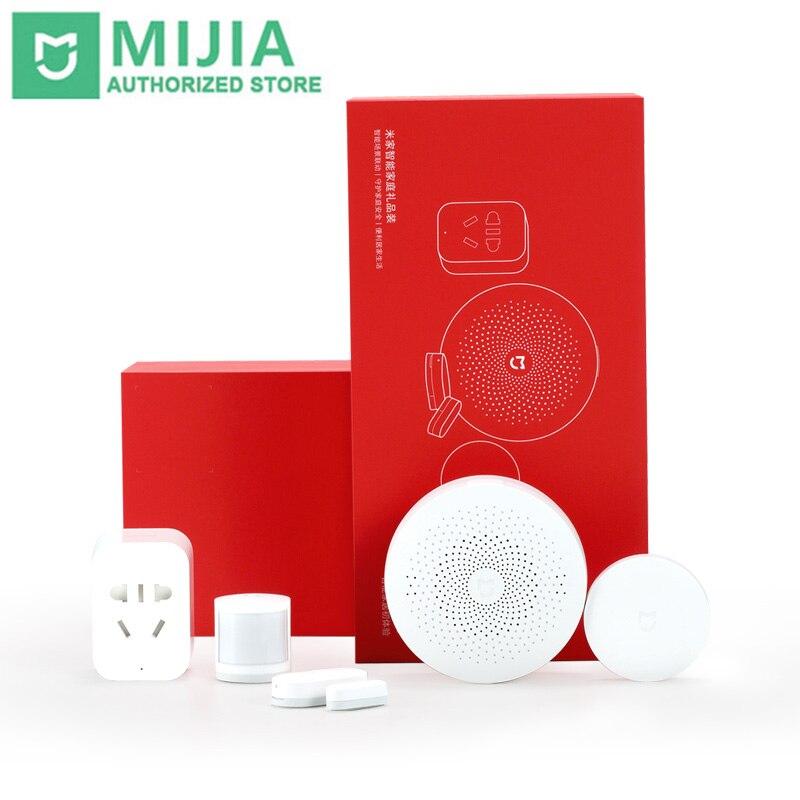 Original Xiaomi Mijia coffret maison intelligente Kit passerelle porte fenêtre capteur corps humain capteur sans fil interrupteur Zigbee Socket ensembles