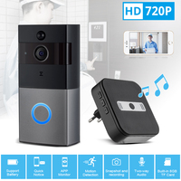 KERUI WiFi Video Doorbell 720P Security Camera Door Phone Two Way Audio Night Vision Wireless Door Bell Intercom Video Doorbell