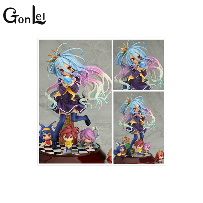GonLeI Lovely cartoon movie Action Figure Model Furnishing articles anime No Game No Life 2 hand toy doll kids Holiday gift 20cm anime life no game no life shiro game of life painted second generation game of life 1 7 scale pvc action figure model