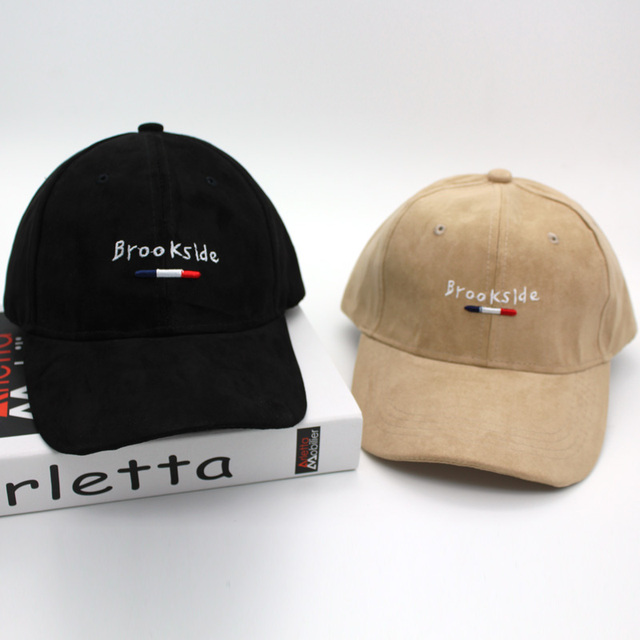 HamiOtwo Baru Bordir surat baseball snapback topi topi Suede cotton  casquette Brookside wanita pria hip hop b666103675