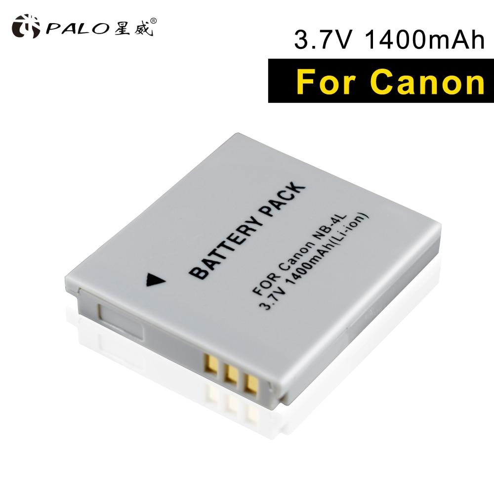 PALO NB-4L NB4L 4L bateria para Canon IXUS NB 30 40 50 55 65 80 100 120 110 115 130 IS117 220 225 Power shot SD1000 1100 câmera