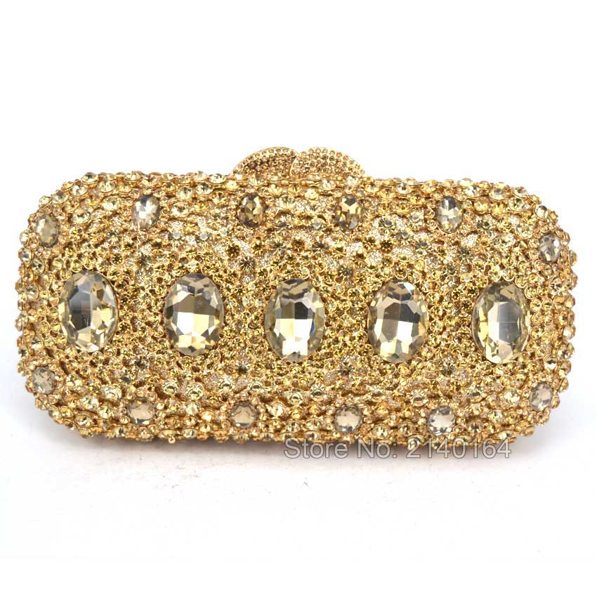 Gift Box Packed Women Gold Plating  Flower Hollow Out Crystal Evening Metal Clutches Small Minaudiere Handbag Wedding ClutchGift Box Packed Women Gold Plating  Flower Hollow Out Crystal Evening Metal Clutches Small Minaudiere Handbag Wedding Clutch