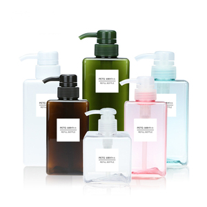 Image 1 - 1pcs PETG large capacity emulsion bottling bottle 100/150/200/250/450ml shower gel shampoo moisture filled plastic bottle BQ023
