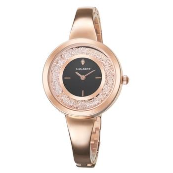 цена на Cagarny Rose Gold Bracelet Watch Women Quartz Watches Ladies Top Brand Luxury Wrist Watch Girl Clock Minimalist Relogio Feminino