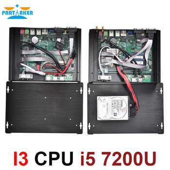 Partaker I3 Industrial Mini PC Industrial PC 2*RS232 With Intel Core i5 7200U 2 core 4 threads HTPC Mini PC