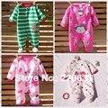 Retail 2016 nueva otoño ropa del bebé del invierno, bebé recién nacido, niño niño niña mameluco de la historieta, mono, vellón general, mono