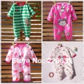 retail new 2016 autumn winter baby clothing set,newborn baby,toddler boy girl cartoon romper,bodysuit,fleece overall,jumpsuit