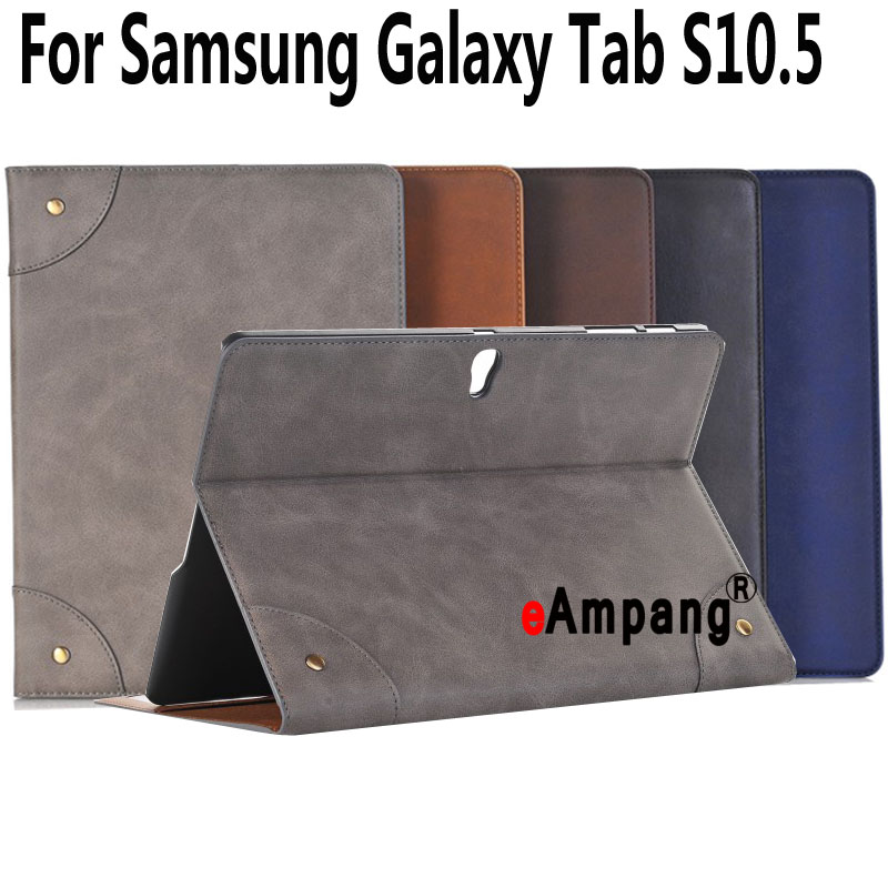 For Samsung Galaxy Tab S 10.5 Case T800 T805 Leather Retro Tablet Fundas Coque For Samsung Tab S 10.5 Case Cover with Stand 360 rotary flip open pu case w stand for 10 5 samsung galaxy tab s t805 white