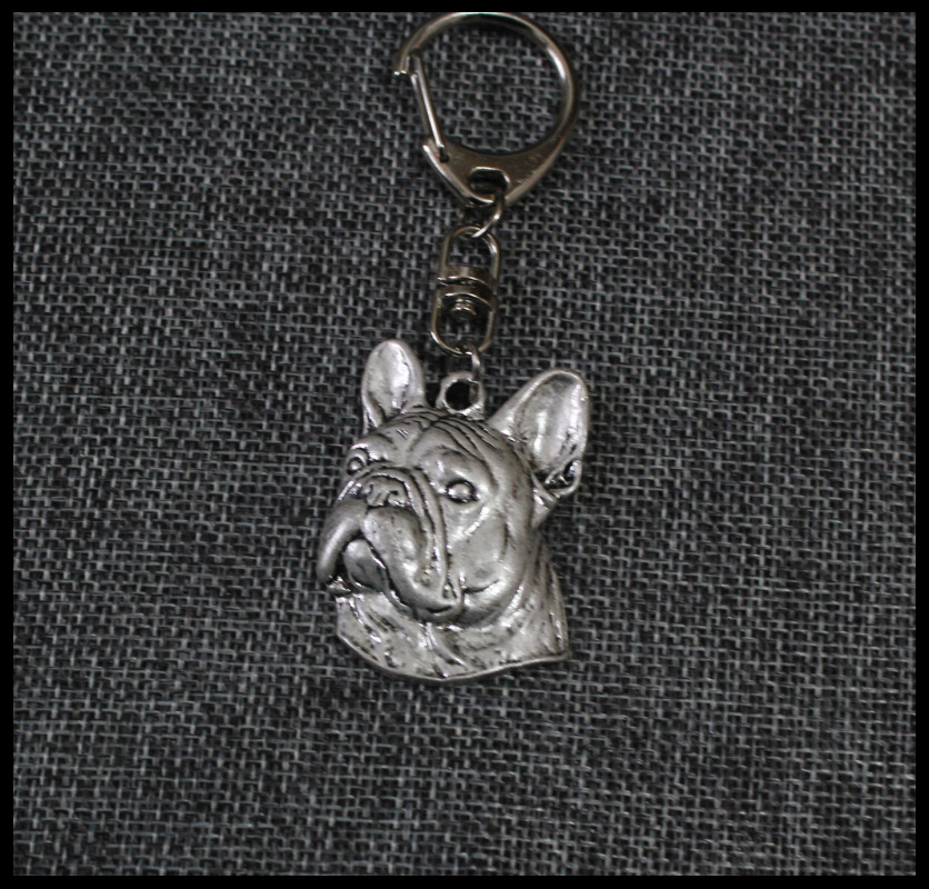 french BullDog Keychain Popular handmade delicated carved Key Chain Key Ring fast delivery