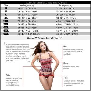 Image 5 - الأشرطة overbust المخصر القوطية الجاكار مثير cincher الخصر بوستير السوستة الجانبية ملابس داخلية زائد الحجم ملابس S 6XL