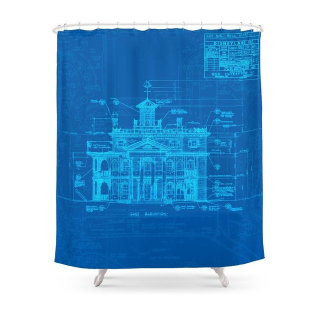 Haunted Mansion Shower Curtain Custom For Bathroom Waterproof Polyester