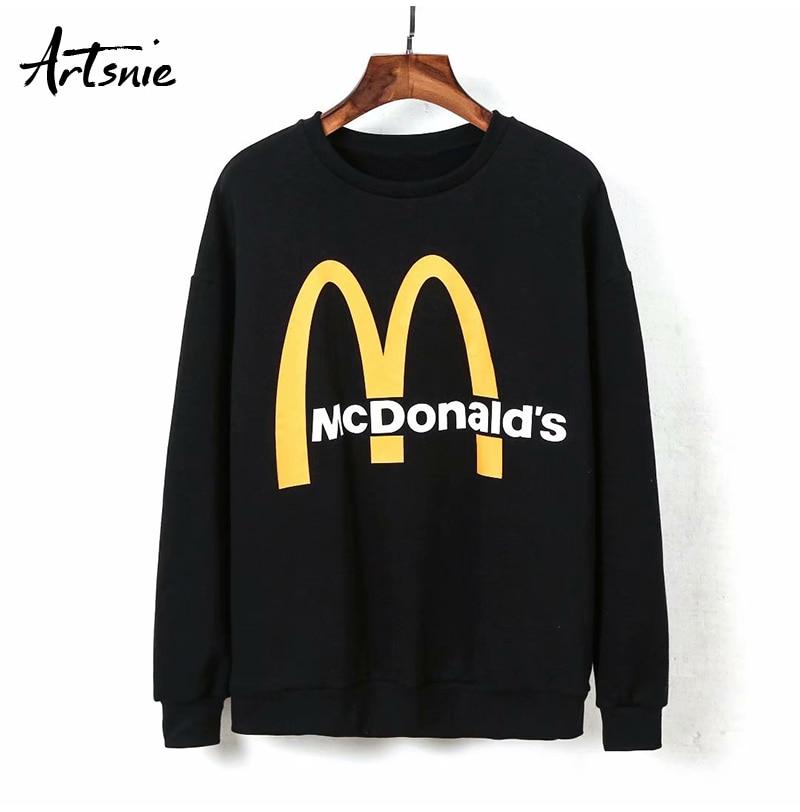 Artsnie Spring 19 Black Casual Knitted Sweatshirt Women O Neck Long Sleeve Loose Pullovers Letter Streetwear Sweatshirts Mujer 10