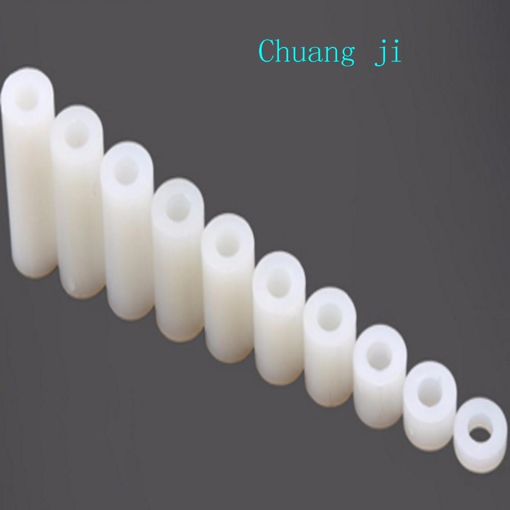 Inner Diameter 3 LED Isolation Column Nylon Column Outside Diameter 5  Through The Column Highly 1.5mm 2mm 3mm 4mm 5mm 6mm 7mm