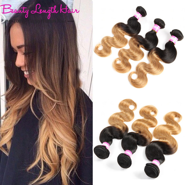 Black Friday Natural Hair Sales Ombre Brazilian Hair Weaving 3