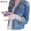 Vancol Women Jeans Jackets Short Tops 2016 Spring Autumn Long Sleeve Denim Coat Vintage Ripped For Women Clothing Denim Jacket