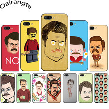 Ron Swanson Soft Phone Cover Case for Huawei Honor 6A 7A 2GB 3GB Pro 7X 8X 8 Lite 9 10 Lite 8C(China)