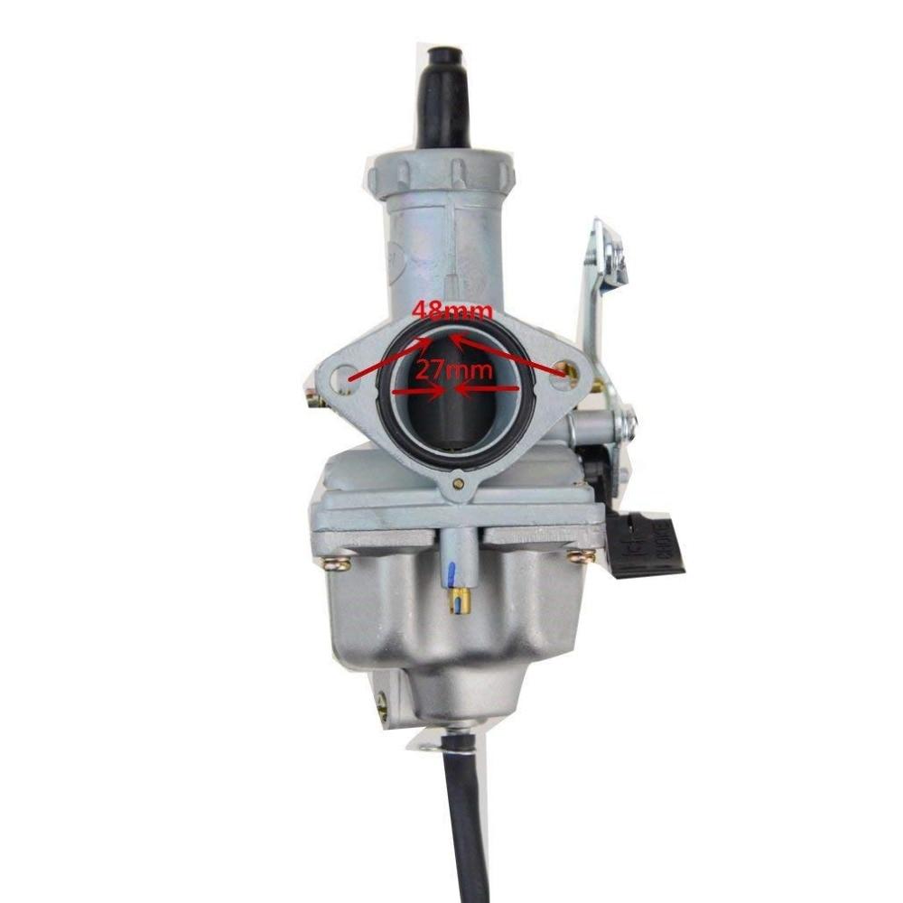 GOOFIT 27mm Carburador Carb Motocicleta PZ27 Bomba Acelerador - Accesorios y repuestos para motocicletas - foto 3