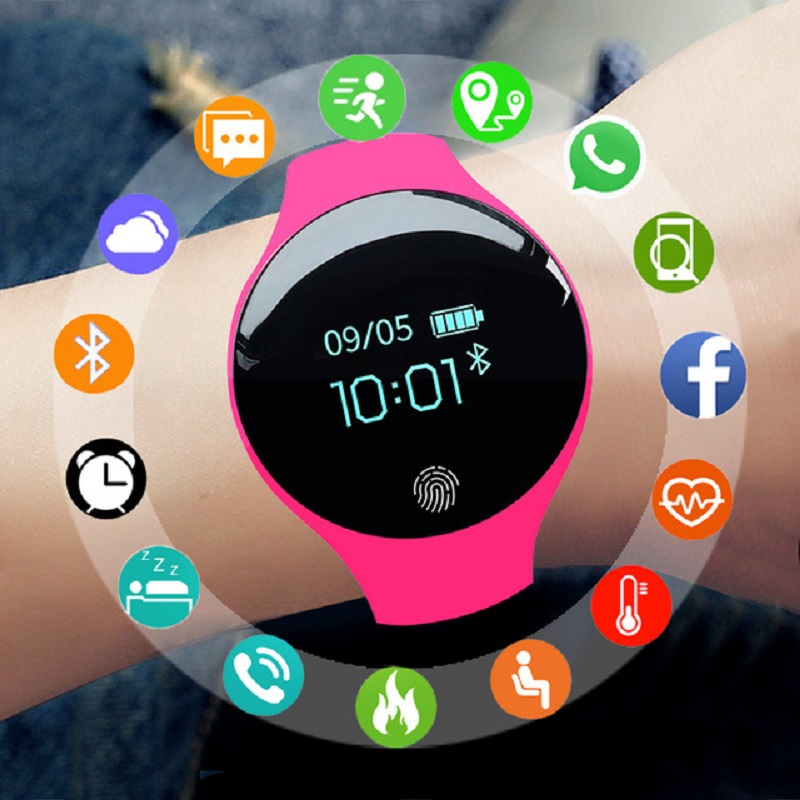 SANDA Smart Watch Women Men Sport Watch Fitness Bracelet Color-screen Waterproof Calorie Pedometer Tracker Connect IOS Android(China)