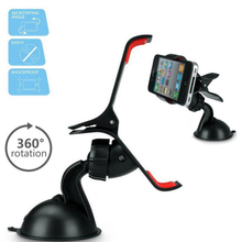1pc Windshield 360 Diploma Rotating Automotive Sucker Mount Bracket Holder Stand Common for GPS Pill PC Cellphone Equipment reward H5
