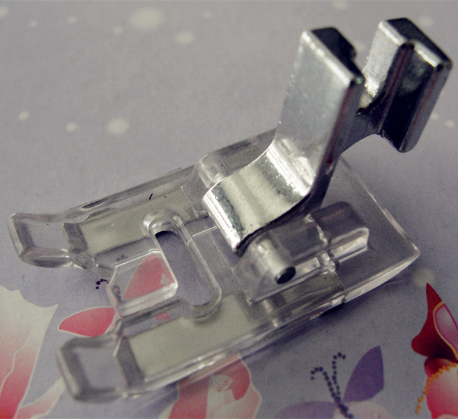 ③Household Sewing Machine Parts Low Shank Satin Stitch Foot For Custom Satin Stitch On Sewing Machine