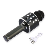 Karaoke Microphone microfone mic Wireless Bluetooth Microphone High Sensitivity Home KTV Music Playing Oneline Chat mikrofon