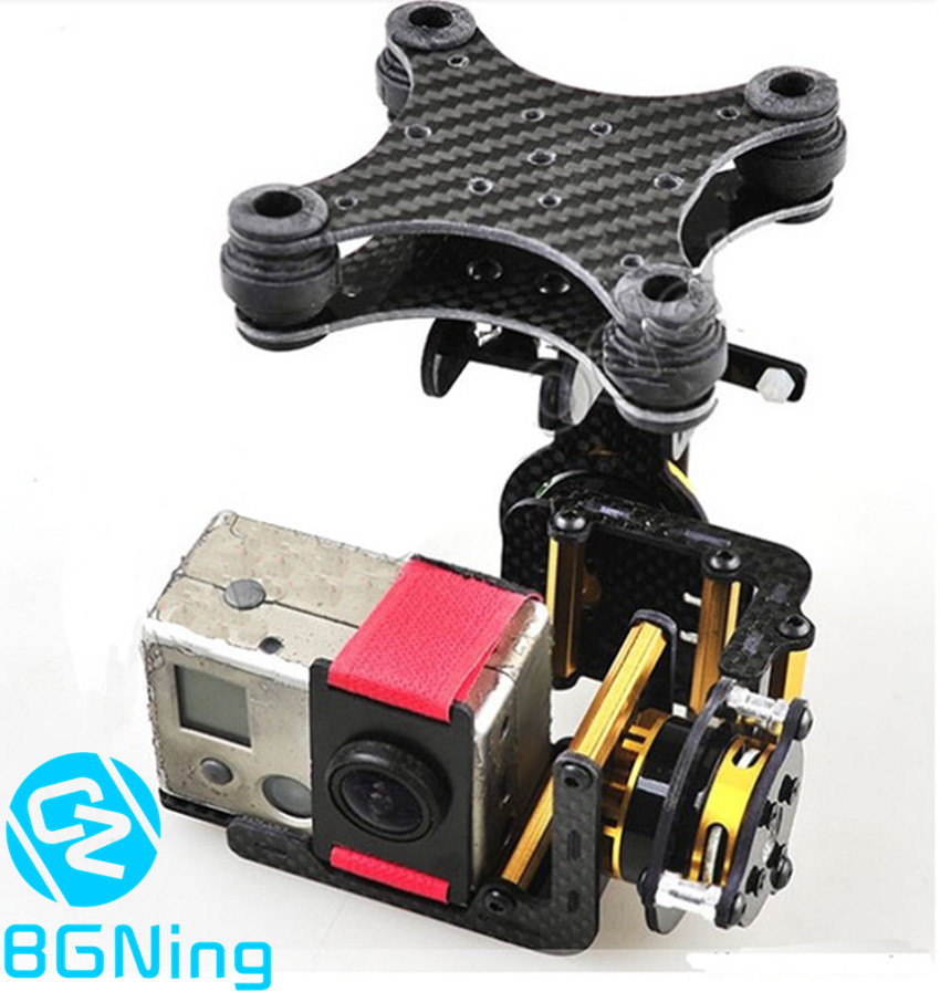 Carbon Fiber 2-axis Brushless Gimbal Camera Mount Plug & Play for Gopro Hero 2 3 for DJI Phantom RC Quadcopter FPV Accessory aluminum gimbal camera mount ptz with brushless motor controller for gopro 2 3 3 fpv dji phantom drones spare parts color black