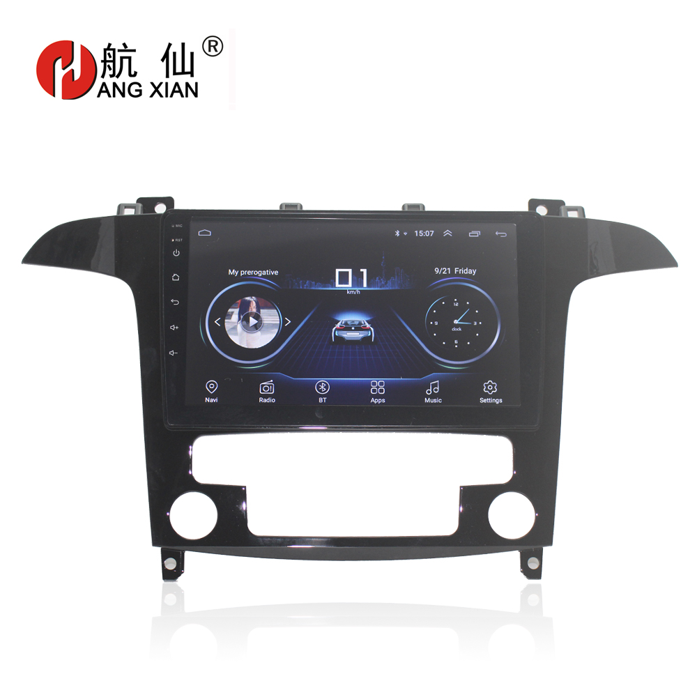 hactivol 9 quad core car radio stereo for ford s max s max 2007 2008 android 7 0 car dvd player gps navi with 1g ram 16g rom Free shipping 9 Quadcore Android 8.1 Car audio stereo for Ford S-Max s max 2007-2008 car dvd player gps navi bluetooth,wifi