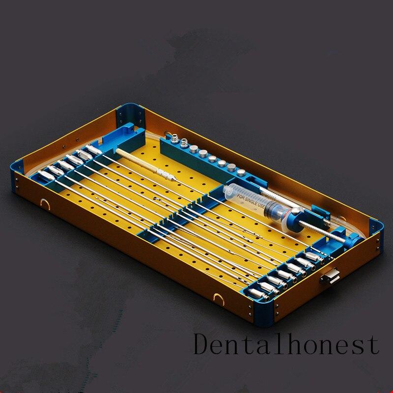 Nuovo Grasso cannula scatola del kit Stem Cell Lipo Trasferimento di Grasso Liposuzione scatola di metallo