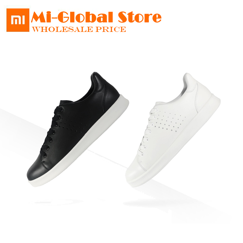 newest xiaomi Free Tie Leisure Genuine Leather Shoes Fashionable comfortable breathable Design high quality