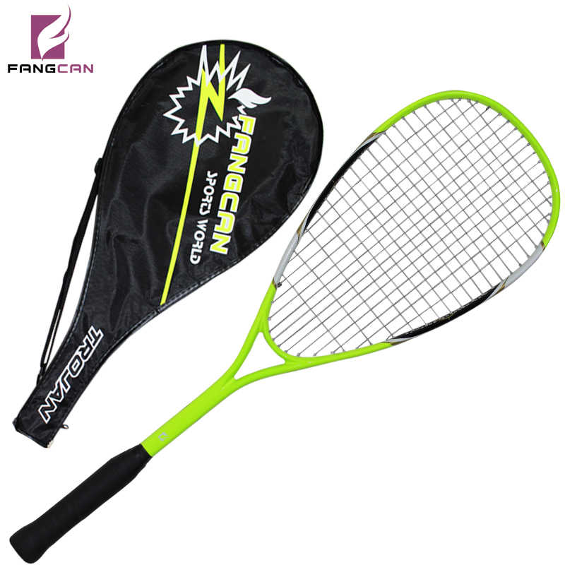 2pc/lot FANGCAN FCSQ-02 Aluminum Carbon Composite Squash Racket 210G for Entry-level with String within 3/4 Cover