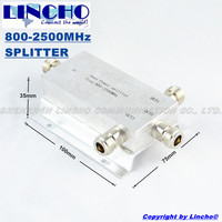 Free Shipping 3 Way Micro Strip Power Splitter 800 2500MHz Signal Booster Repeater Divider