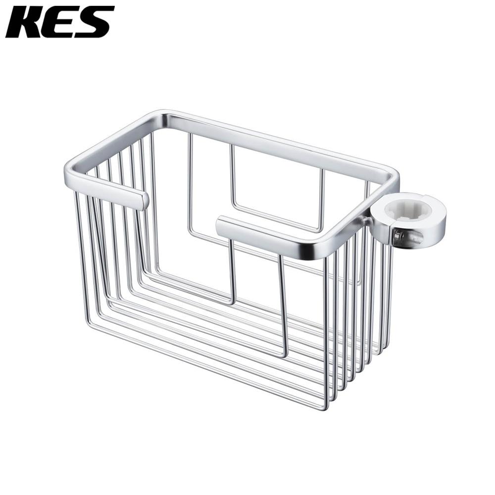KES Aluminum Rust Resistant Shower Caddy for Slide Bar 19 25MM O.D. ...