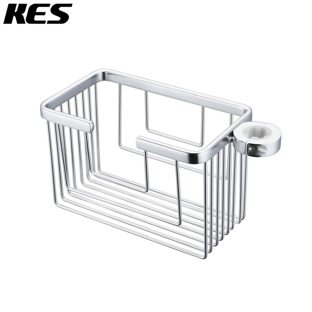 KES Aluminum Rust Resistant Shower Caddy For Slide Bar 19 25MM O.D.  Adjustable Rustproof Shower