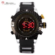 Brand Shark Bazel New Designer Men Wristwatch Sport Relogio Digital Waterproof Wrap Silicone Strap Fashion Casual Watch/ SH168