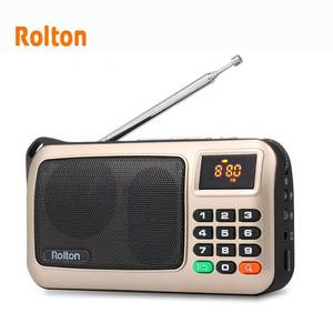 Image 3 - Rolton W405 FM Radio Portable Mini Speaker Music Player TF Card USB For PC iPod Phone with LED Display And Flashlight Column