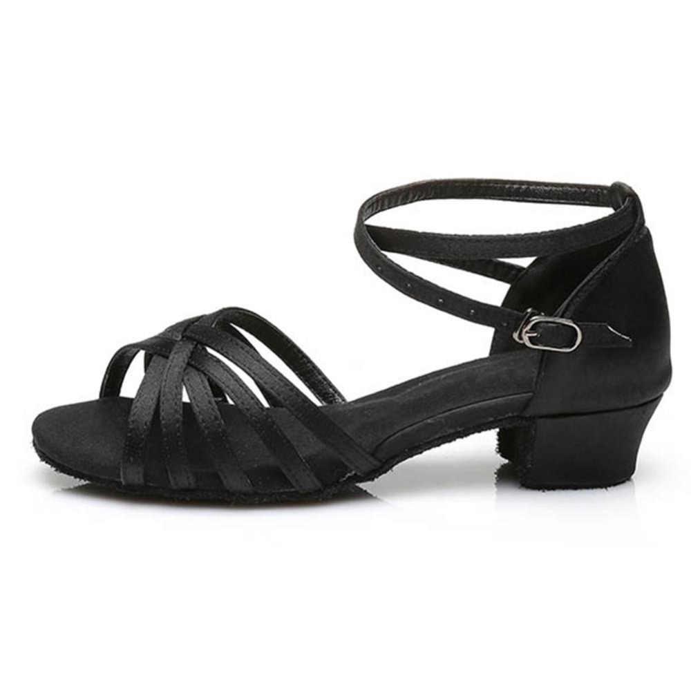 3.5 cm/4 cm Kinderen Meisjes Ballroom/Latin Dans Dansen Schoenen Professionele Tango Dans Schoenen Hakken Salsa Schoenen vrouwen