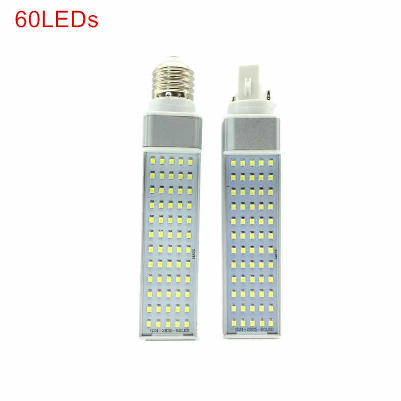 חדש הגיע 7W 9W 11W 13W 15W 18W E27 G24 LED תירס מנורת הנורה אור SMD 2835 זרקור 180 תואר AC85-265V אופקי Plug אור
