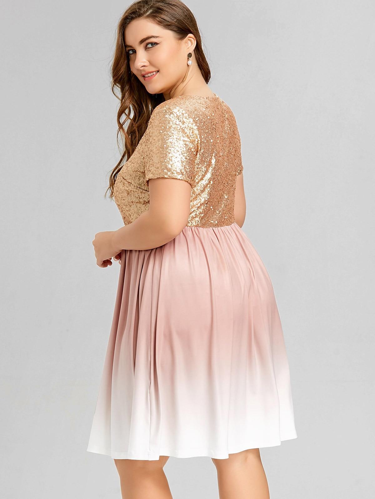 Großartig Plus Größe Pailletten Partykleid Fotos - Brautkleider ...