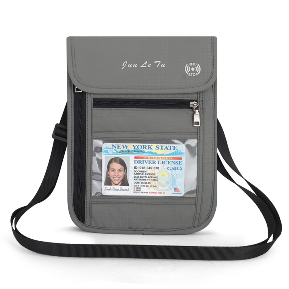 Neck Hanging Travel Passport Cover Wallet ID Holder Storage Clutch Money Bag Travel Multifunction RFID Credit Card Package