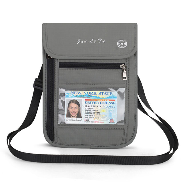 f09a0c443c6e US $7.8 10% OFF|Neck Hanging Travel Passport Cover Wallet ID Holder Storage  Clutch Money Bag Travel Multifunction RFID Credit Card Package-in Card & ...