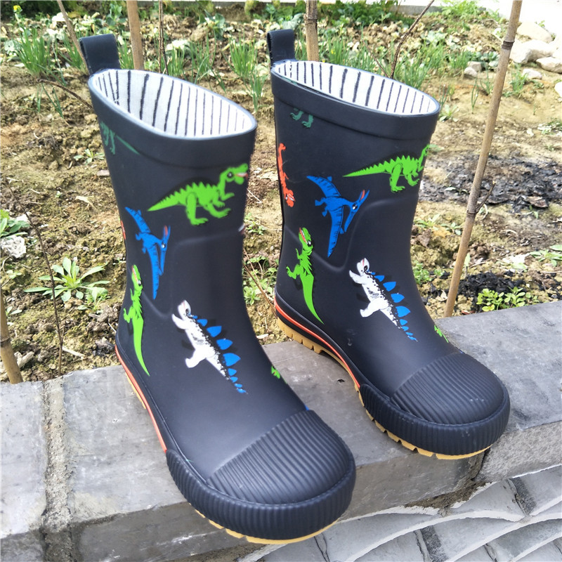 Rain Boots Children For Boys Non-slip Rubber Boots Girls Waterproof Baby Water Shoes Warm Kids Rainboots Four Seasons Removable
