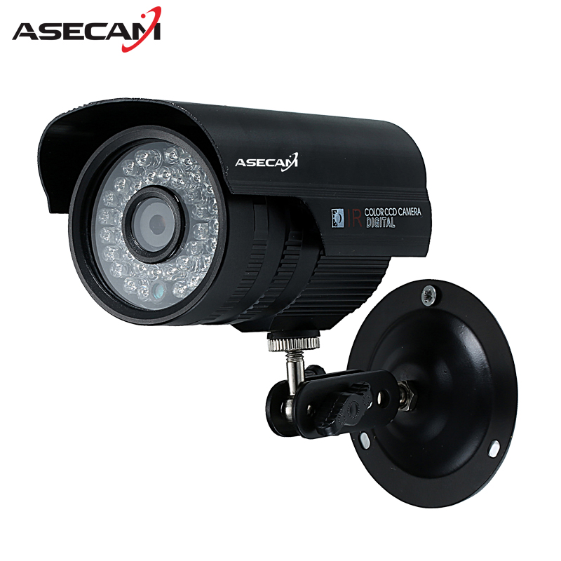 Asecam New Sony CCD 960H Effio 1200TVL CCTV black Bullet Analog Surveillance Outdoor Waterproof 36led infrared Security Camera new arrival sony 960h effio 1200tvl video surveillance outdoor waterproof array infrared security white bullet cctv camera